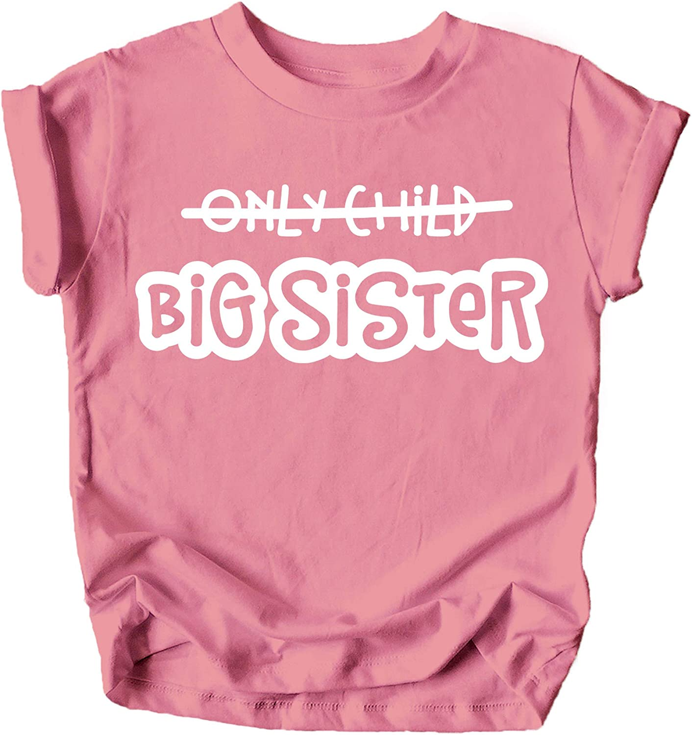 Olive Loves Apple Big Sister Baby Reveal Only Child is Going to Be a Big Sister New Sibling Announcement T-Shirts and Raglans