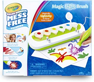 Crayola Color Wonder Mess Free Magic Light Brush 2.0 Paint Set, Gift for Kids Age 3+