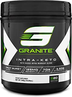 Keto Powder by Granite Supplements | 20 Servings of Intra-Keto to Maximize Muscle Growth and Speed Up Recovery | Includes Ketone Bodies, Essential Amino Acids, and Sensoril Ashwagandha
