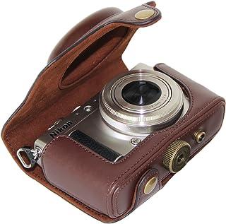 MegaGear Bolsa de Funda Protectora para Nikon COOLPIX A (Oscuro Marrón)
