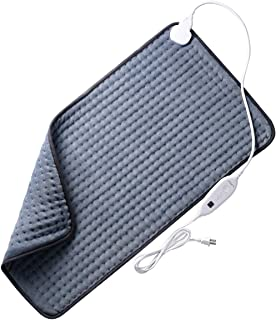 Heating Pad, XXX-Large Electric Heating Pads Dry/Moist for Pain Relief with 6 Heat Settings, Auto Shut Off, Fast Heating for Neck Back Shoulder Relief, 33
