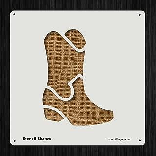 Boot Country Cowboy Cowgirl Feet Style 11014 DIY Plastic Stencil Acrylic Mylar Reusable