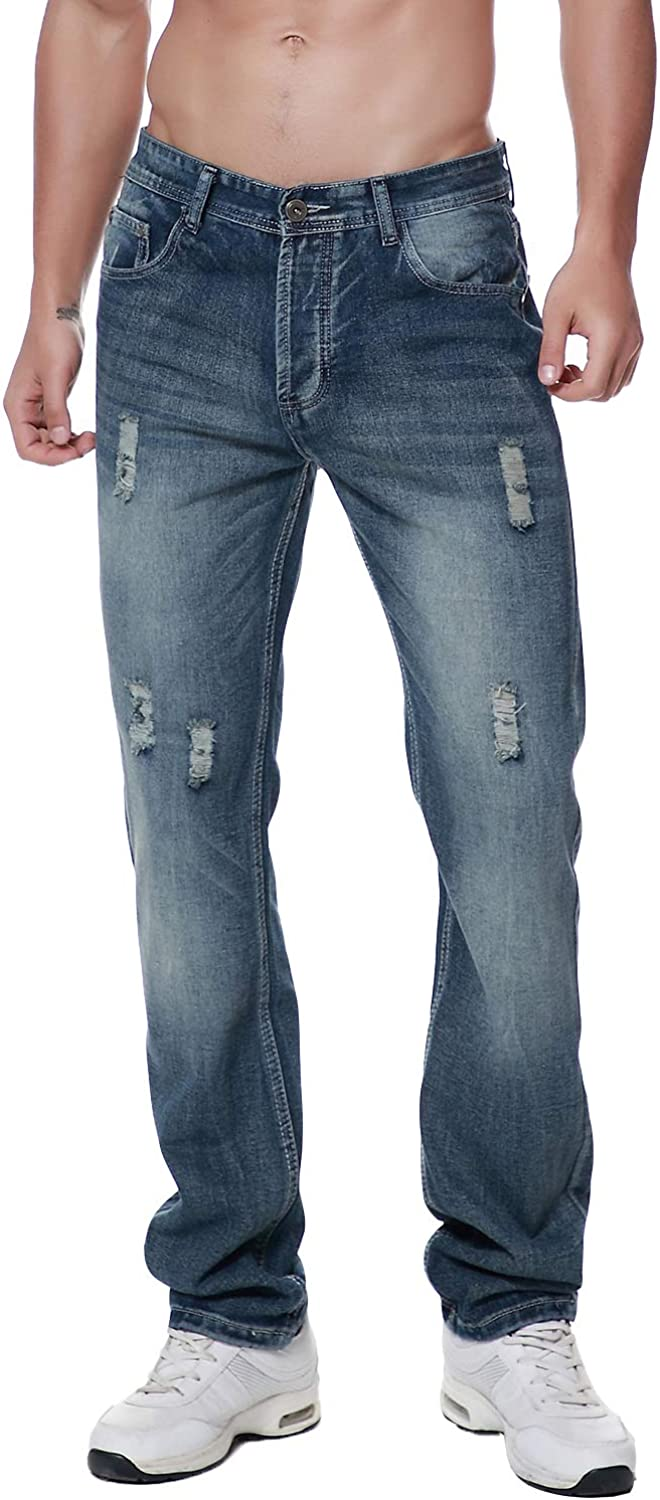 Wholesale Previn Men's Ripped Limited Special Price Jeans Straight Skinny Destroyed Distressed B