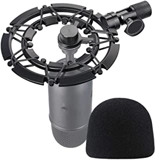 FIFINE K678 Shock Mount and Pop Filter Matching Mic Boom Arm Stand, Compatible for FIFINE K678 Microphone by YOUSHARES