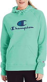 Champion Womens GF934 Powerblend® Graphic Hoodie Hooded Sweatshirt