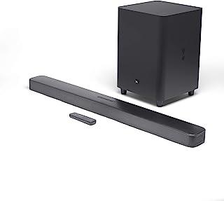 شريط صوت محيطي جي بي ال بار 5.1 - نظام ترفيه منزلي، مع قدرات بث وسماعة، باللون الاسود