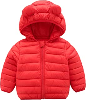 b54dc6ee8d776 CECORC Winter Coats for Kids with Hoods (Padded) Light Puffer Jacket for  Baby Boys