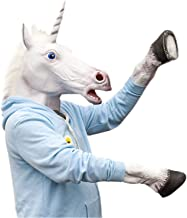 Laylala Novelty Unicorn Head Latex Mask Plus Unicorn Hooves Gloves