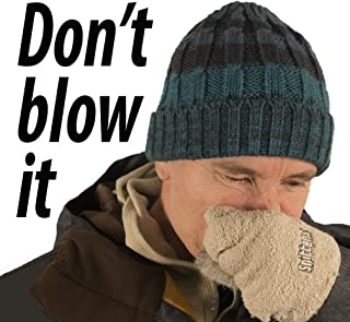 Snittens –The Original Snot Mittens. Funny Gift for Men, Winter Gloves for Runners Hikers Skiers for Christmas Father's Day Birthday. Gag Gift for Men Left Out in the Cold. Convenient Absorbent Funny.