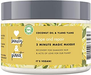 Love Beauty And Planet Coconut Oil and Ylang Ylang Vegan Conditioning Mask, Replenishing and Nourishing Hair Care for Men ...