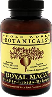 Whole World Botanicals - Royal Maca Vitality - Libido, Balance 180 Gel Caps