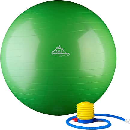 Black Mountain Products 2000lbs Static Strength Exercise Stability Ball with Pump