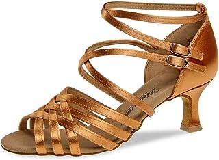 Diamant 108-077-379 - Zapatillas de Danza de Satén para Mujer Marrón Dark Tan