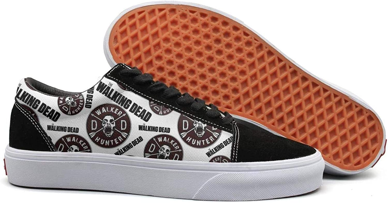 Walking-Dead-logo- woman Casual shoes Sneakers Canvas slip on cute Original