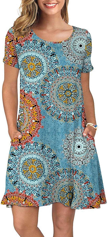 HODEYS Washington Mall Women's Summer Casual T-Shirt Sleeve Short Swing Dresses Many popular brands