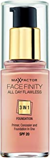 Max Factor Facefinity All Day Flawless 3in1 Liquid Foundation, 50 Natural, 30 ml
