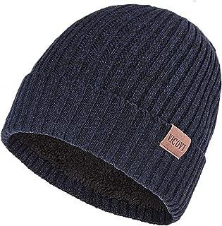 Winter Knit Beanie Hats for Men and Women Warm Fleece Stretch Slouchy Skull Cap