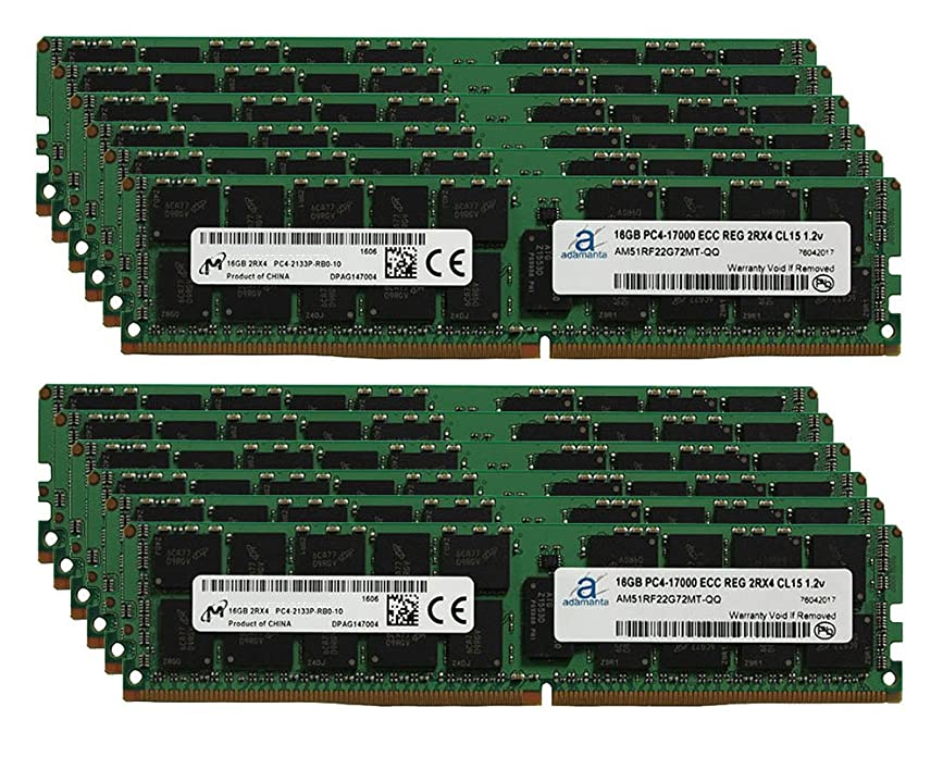 証明する鎮痛剤刻むMicron オリジナル 192GB(12x16GB)サーバーメモリアップグレード SuperMicro 3U ラックマウント スーパーサーバー スロット DDR4 2133MHz PC4-17000 ECC 登録チップ 2Rx4 CL15 1.2V SDRAM Adamanta