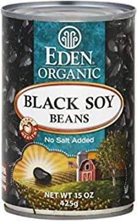 Eden Foods Organic Black Soy Beans, No Salt Added, 15 OZ (Pack - 2)
