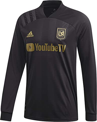 adidas Los Angeles FC Home Long Sleeve Soccer Jersey
