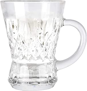 Cristal Collection Naples Tea Mug, Elegant Classic Design, Perfect Glasses for Water, Juice, Beer, Wine, and Cocktails and...