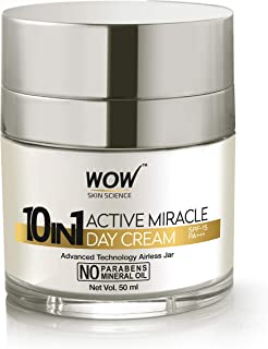 WOW 10 in 1 Active Miracle No Parabens & Mineral Oil Day Cream, 50mL