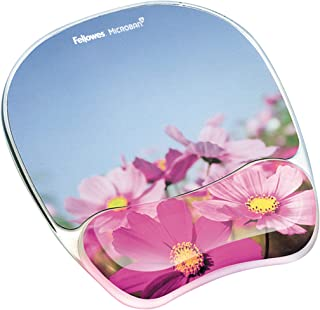 "Fellowes Photo Gel Mouse Pad and Wrist Rest with Microban Protection 9""*7.5"" Blue/Pink"