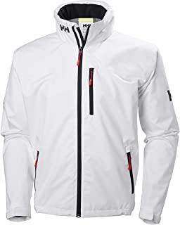 Men's Crew Lightweight Waterproof Windproof Breathable Sailing Rain Coat Jacket with Stowable Hood