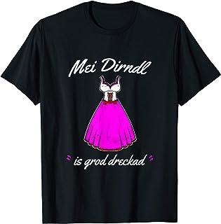 Oktoberfest T-Shirt Damen Wiesn T-Shirt damen Mei Dirndl is grod dreckad T-Shirt