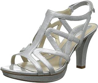 95627fe72a2c Amazon.com  Grey - Heeled Sandals   Sandals  Clothing