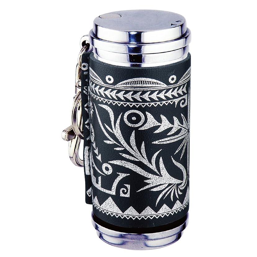 確認エジプト人外交ペンギンライター 携帯灰皿 アッシュシリンダー 本革巻き スライド ネイティブ