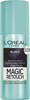 L'Oréal Paris Magic Retouch Temporary Root Concealer Spray, Black (Instant Grey Hair Coverage)