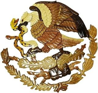 wooden eagle plaque