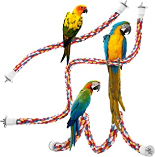 Jusney Bird Rope Perches, Comfy Perch Parrot Toys for Rope Bungee Bird Toy [1 Pack]