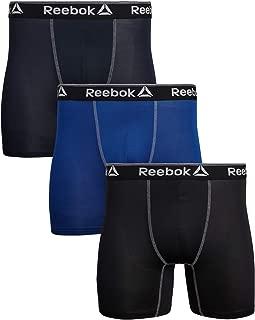 Reebok Mens 3 Pack Performance Boxer Briefs (Small, Navy/Black/Deep Coblalt)'