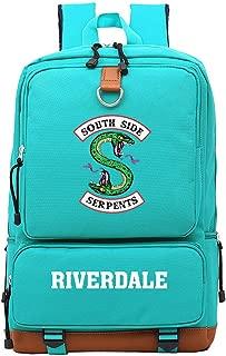 Memoryee Casual School Backpack Riverdale Southside Serpents Print Laptop Rucksack Multi-Functional Daypack Book Satchel Green