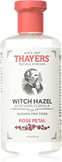 THAYERS Alcohol-Free Rose Petal Witch Hazel with Aloe Vera, 12 Fl Oz, Pack of 3