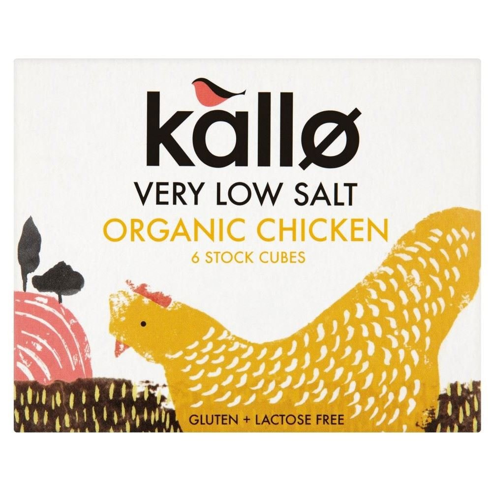 Don't miss the campaign Kallo Organic Very Low Salt Chicken Free Shipping New of Pack - 6x8g Cubes Stock