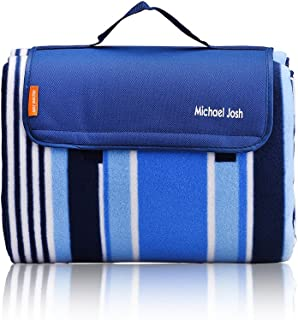 Michael Josh Large Outdoor Picnic Blanket,150 X 135 CM Water-Resistant Handy Mat Tote Great for the Beach,Camping Travelli...