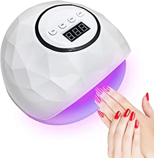 72W Nail Lamp for Gel Polish,24 UV LED Nail Dryer with 4 Timers Settings,Automatic Sensor Professional Nail Light