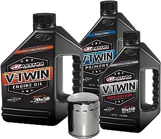 MaximaHiflofiltro VTTOCK08 Complete Engine Oil Change Kit for V-Twin Harley Davidson Evolution, 6 Quart