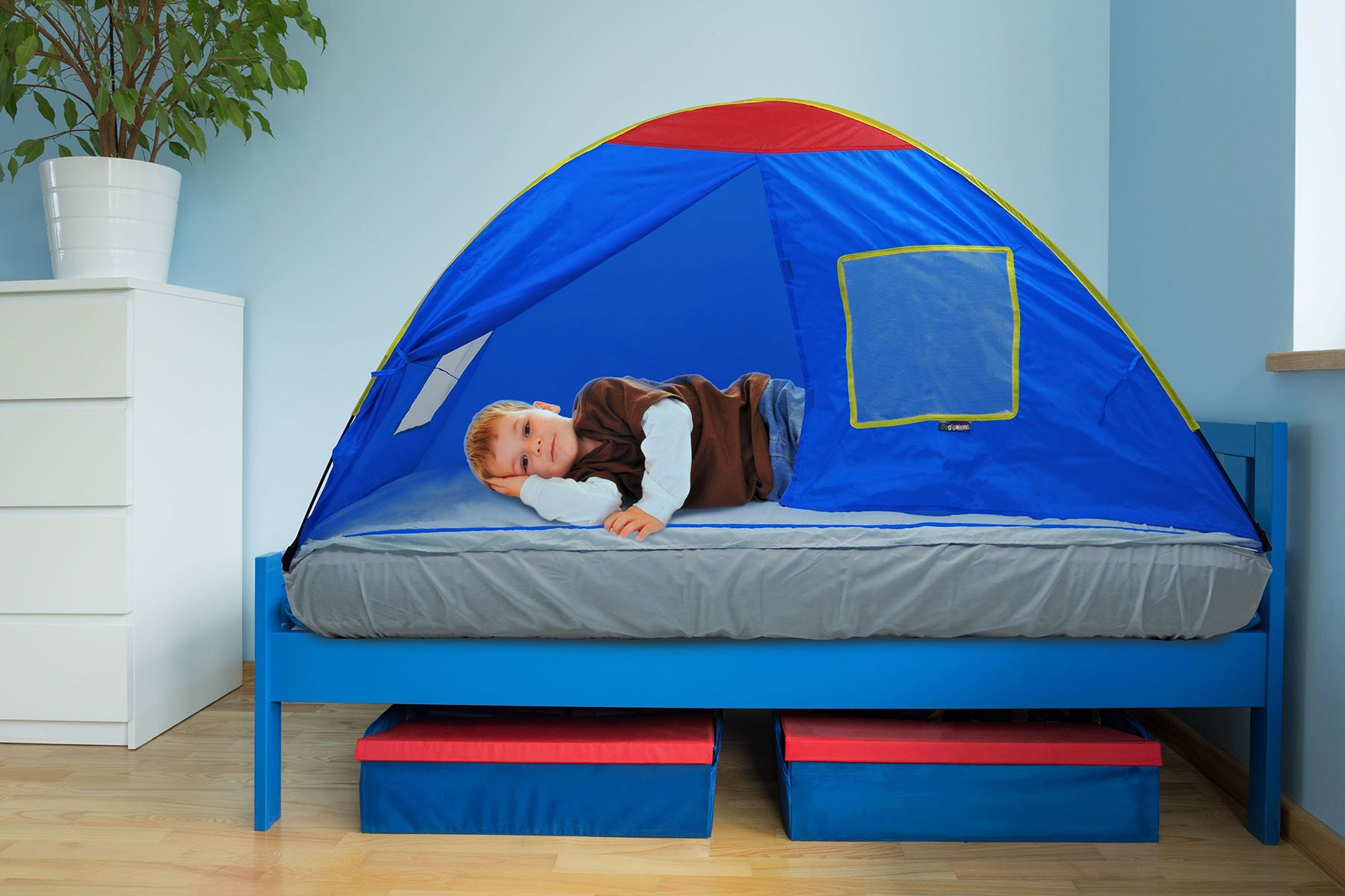 GigaTent Kids Blue Twin Sleep Tent u2013 Use On Top or Off Bed u2013 Easy Setup  sc 1 st  Amazon.com & Kids Bed Tents: Amazon.com