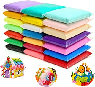 24 Colors Air Dry Clay Magical Kids Clay Ultra Light Modeling Clay Artist Studio..