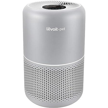 Levoit Home Allergies Hair, H13 True HEPA purificadores de Aire para recámara, Sistema de filtración de 24 dB con fórmula ARC, Elimina el 99,97% de olores de Mascotas, Polvo de Polen, Core P350, Gris