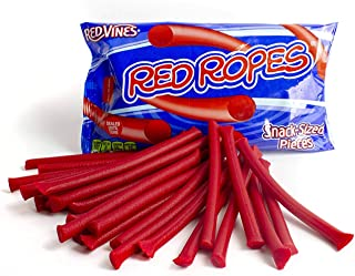 Red Vines Red Ropes, Classic American Red Licorice Rope Candy, Snack Size Treats (Pack of 12)