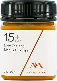 Three Peaks Manuka Honey New Zealand - Certified UMF 15+ - MGO 514+ - 8.82 oz (250gm) - 100% Natural honey, Raw honey – Ul...