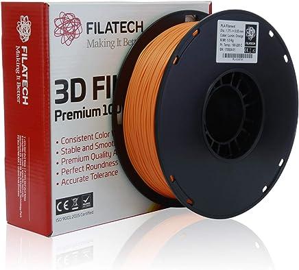 Filatech PLA Filament, Lum. Orange, 1.75mm, 1KG