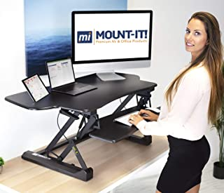 """Mount-It! Height Adjustable Standing Desk Converter 