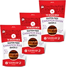 product image for Greater Knead Gluten Free Bagel - Cinnamon Raisin - Vegan, non-GMO, Free of Wheat, Nuts, Soy, Peanuts, Tree Nuts (12 bagels)