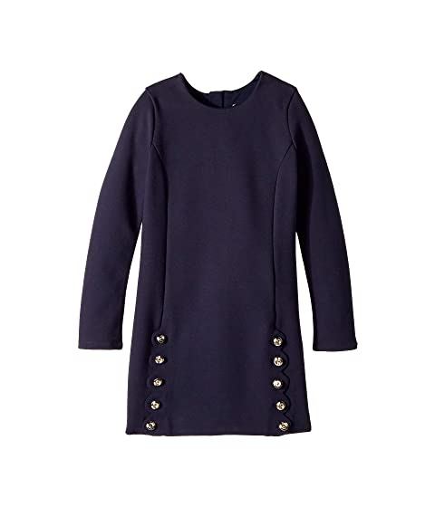 Chloe Kids Milano Dress with Iconic Scallop Cutting Detail (Little Kids/Big Kids)